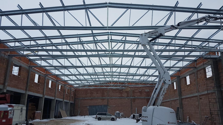 Konstrukcja stalowa dachu Piaski2 2