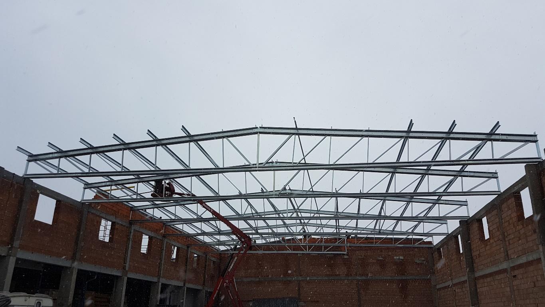 Konstrukcja stalowa dachu Piaski2 1